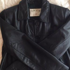 Orvis leather jacket